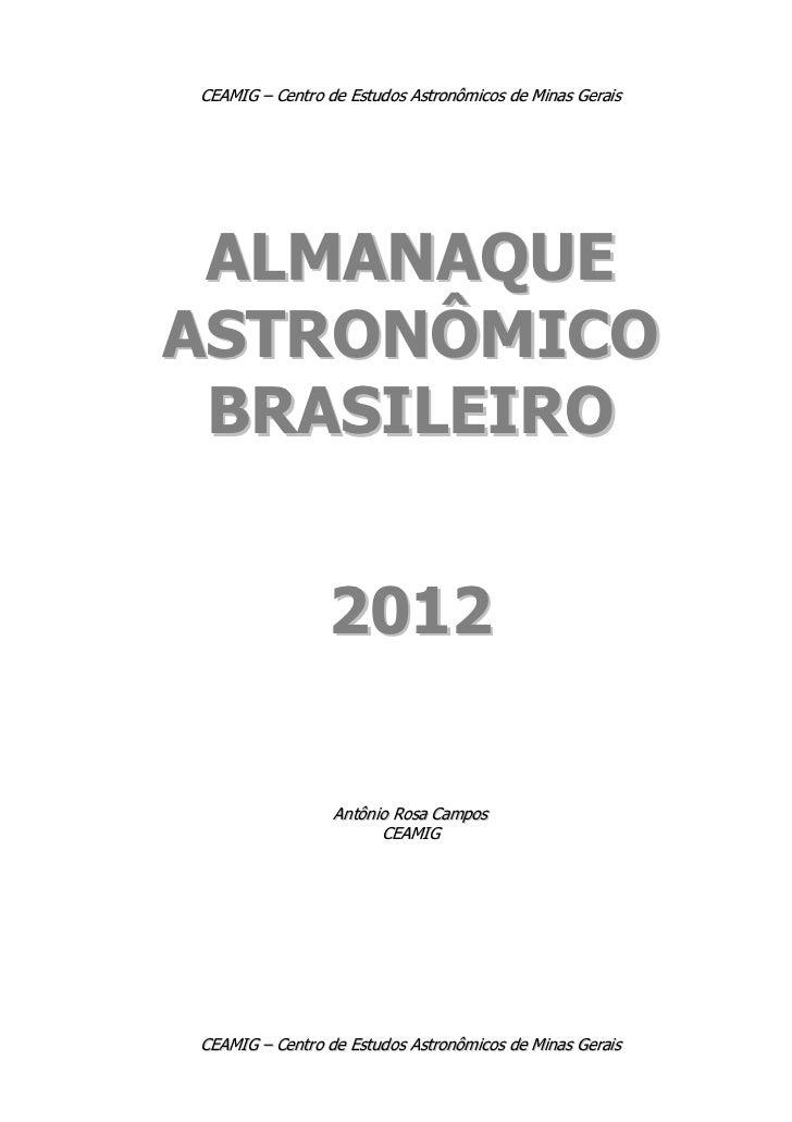 Almanaque Astronômico Brasileiro 2012
