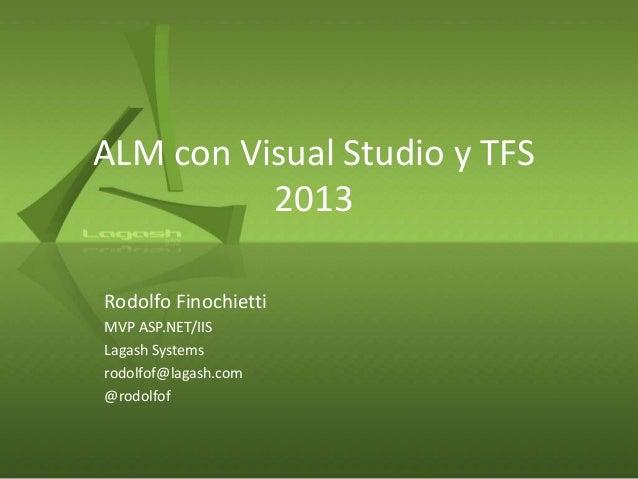 ALM con Visual Studio y TFS 2013