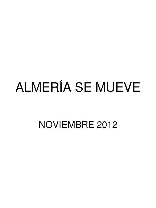 ALMERÍA SE MUEVE  NOVIEMBRE 2012