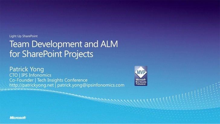 ALM for SharePoint projects