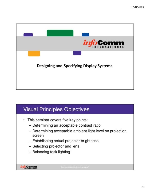 Designing and Specifying Display Systems