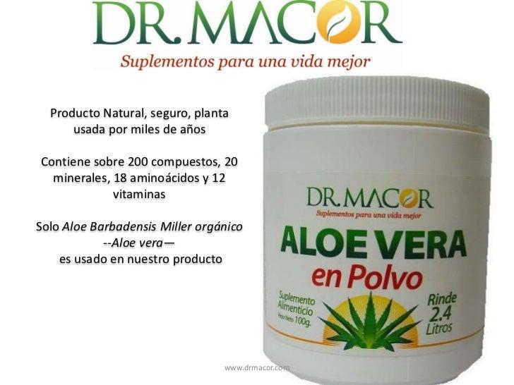 Producto Natural, seguro, plantausadapor miles de años<br />Contienesobre 200 compuestos, 20 minerales, 18 aminoácidos y 1...