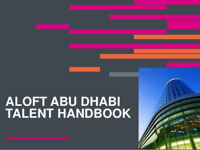 Aloft Abu Dhabi Talent Handbook