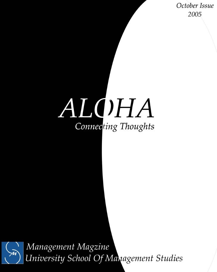ALOHA                                                                           Connecting Thoughts  Includes  GOVERNMENT ...