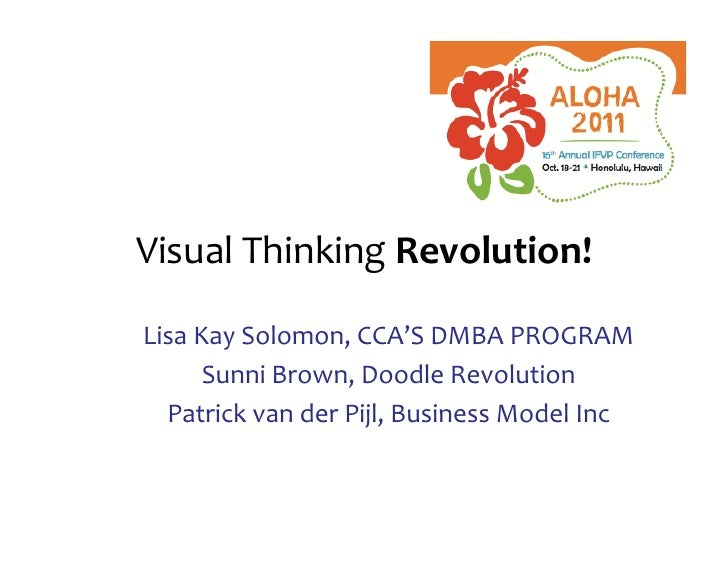 VisualThinkingRevolution!+LisaKaySolomon,CCA'SDMBAPROGRAM      SunniBrown,DoodleRevolution  PatrickvanderPijl,BusinessMode...
