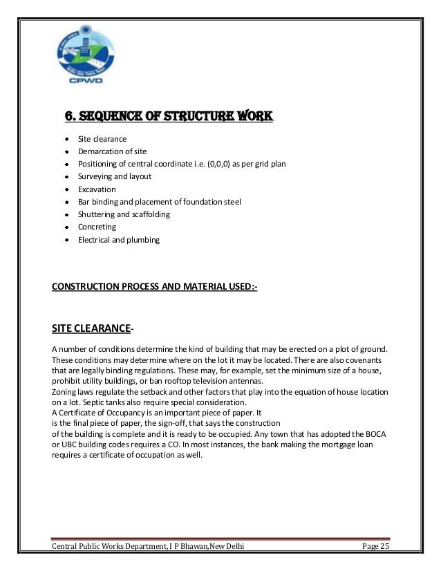 internship report on construction company