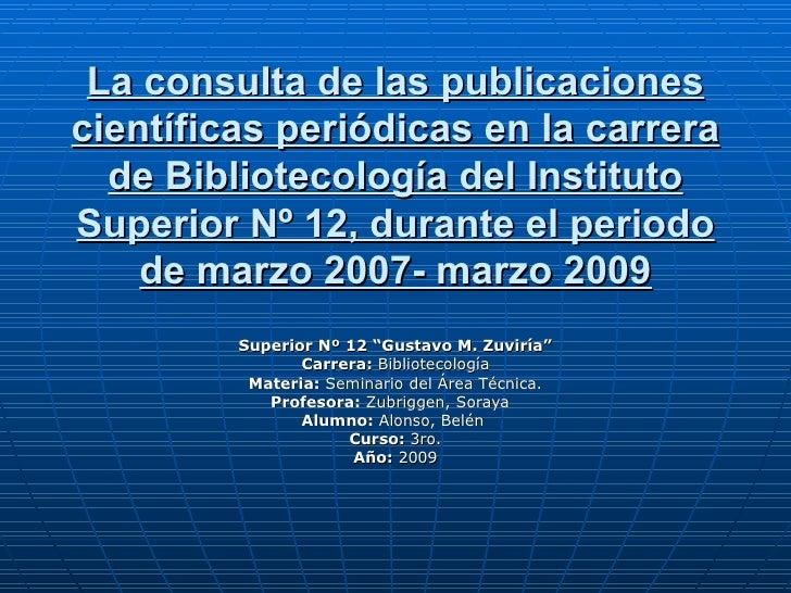 Alonso Seminario 2009