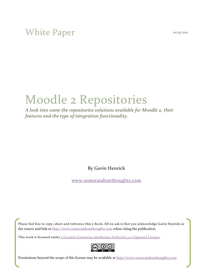 A look at moodle 2 repositories