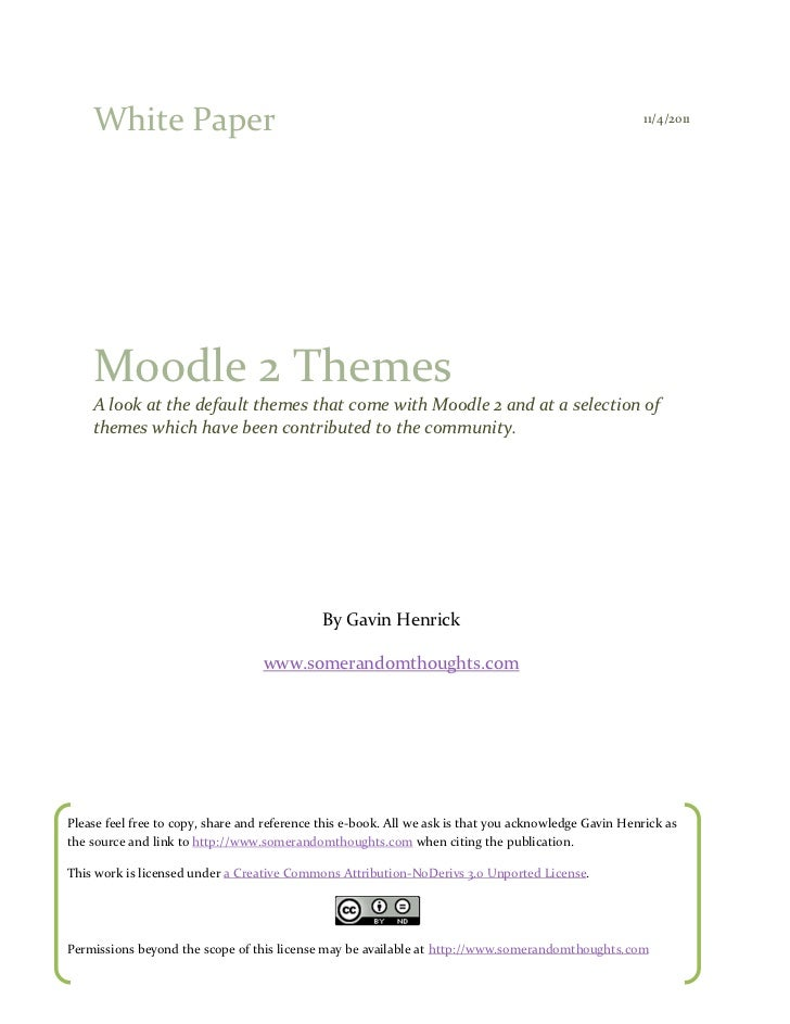 White Paper                                                                                         11/4/2011    Moodle 2 ...