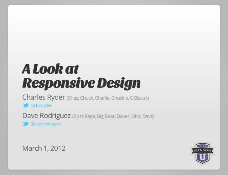 A Look Into Responsive Design