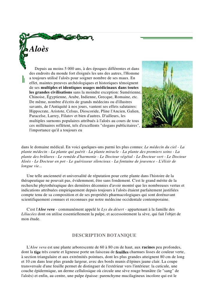 AloèS   DéFinition Par Dr  Yves Donadieu
