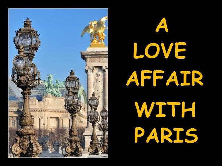 A Love Affair With Paris