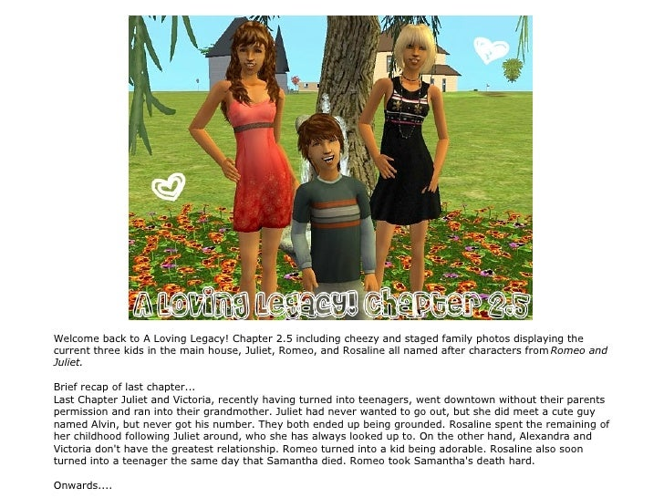 A Loving Legacy! Chapter 2.5