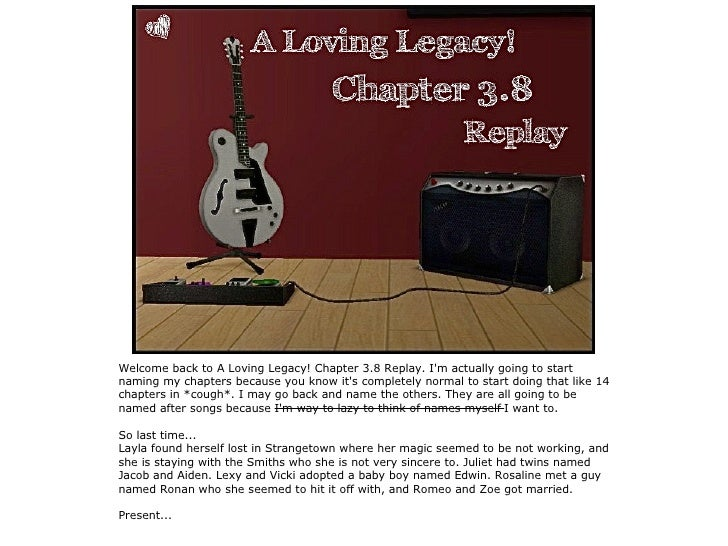 A Loving Legacy! Chapter 3.8
