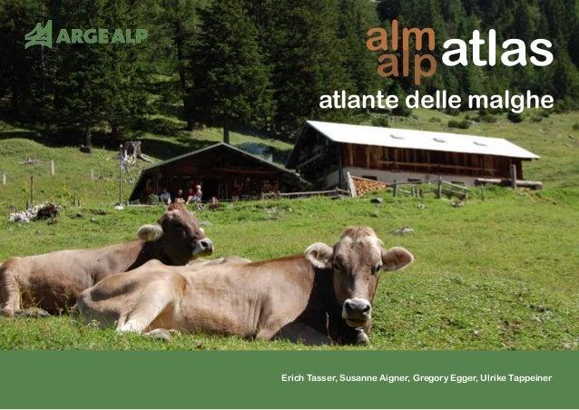 alm atlante delle malghe atlas Erich Tasser, Susanne Aigner, Gregory Egger, Ulrike Tappeiner alp