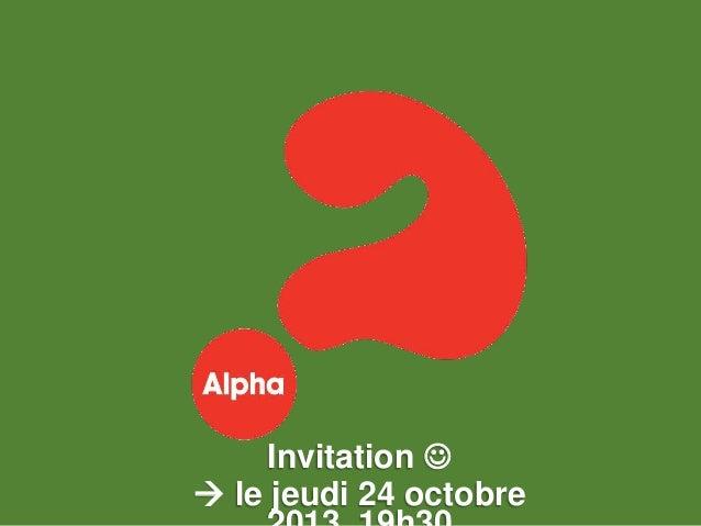 Invitation   le jeudi 24 octobre