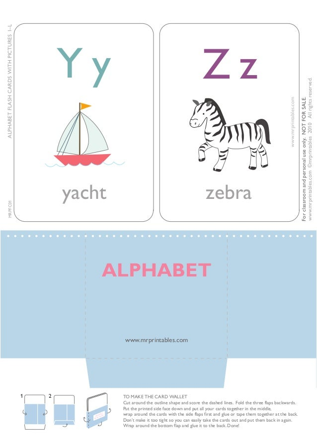 Flash Cards Outline Alphabet Flash Cards to