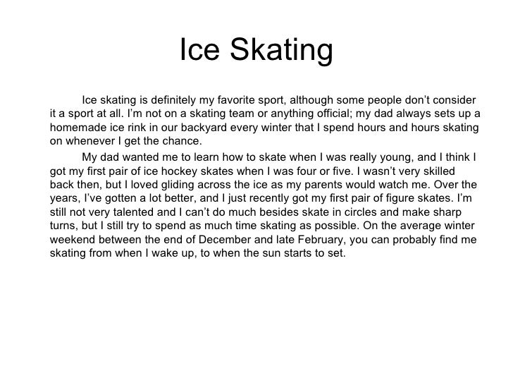 My favorite sport figure skating essay