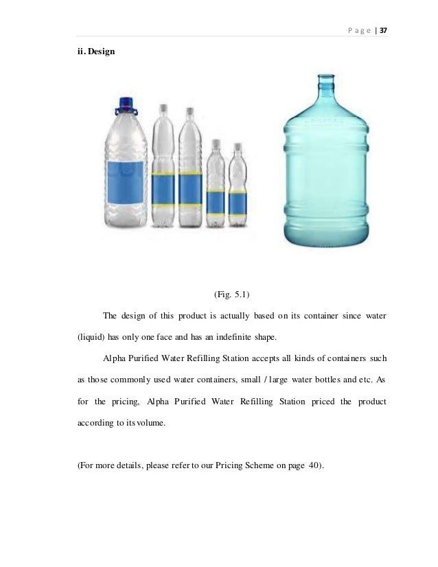 Feasibility Study Water Refilling Station