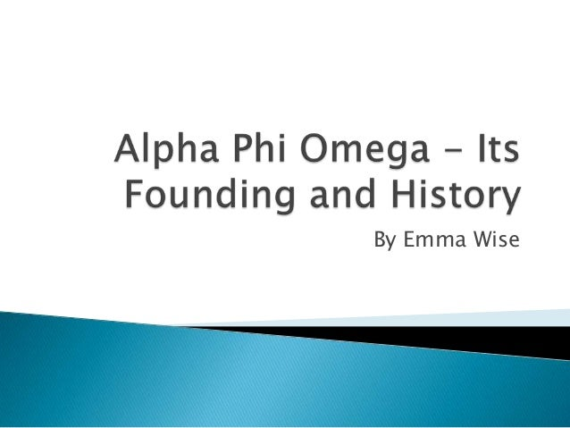 Alpha Phi Omega - Its Founding and History