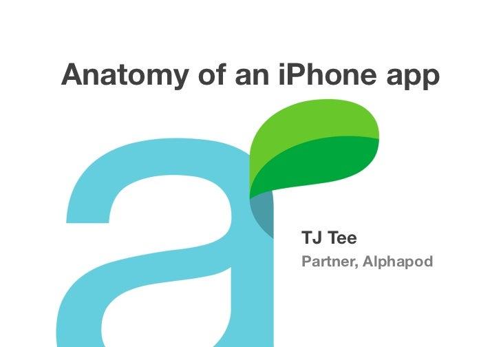 Anatomy of an iPhone app               TJ Tee               Partner, Alphapod