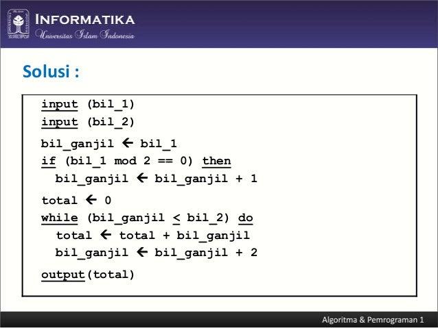 Algoritma dan Pemrograman C++ (Perulangan)