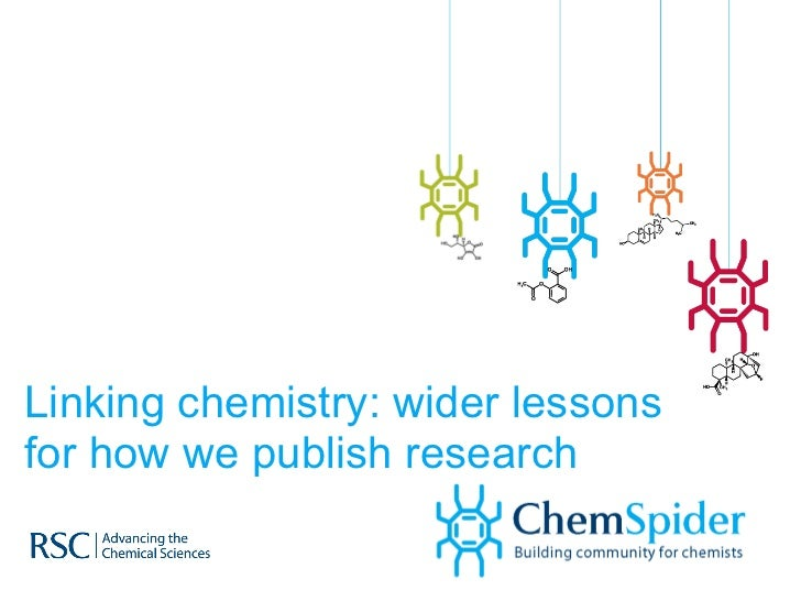 Linking chemistry: wider lessons for how we publish research