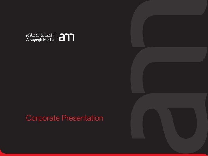 Alsayegh Media Corporate Presentation Updated