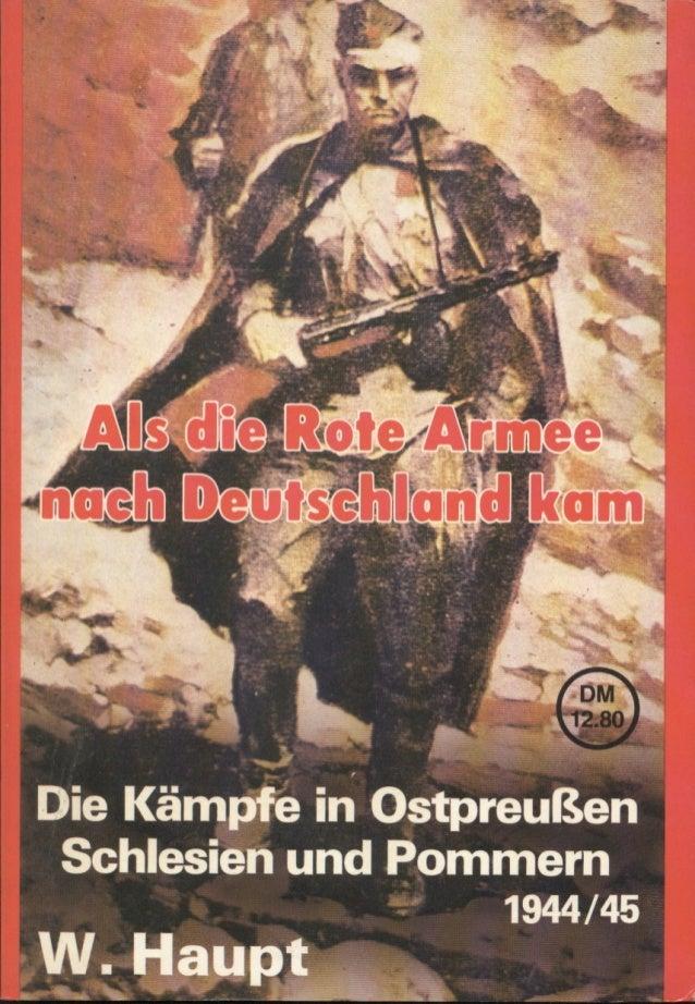 Als die Rote Armee nach Deutschland kam