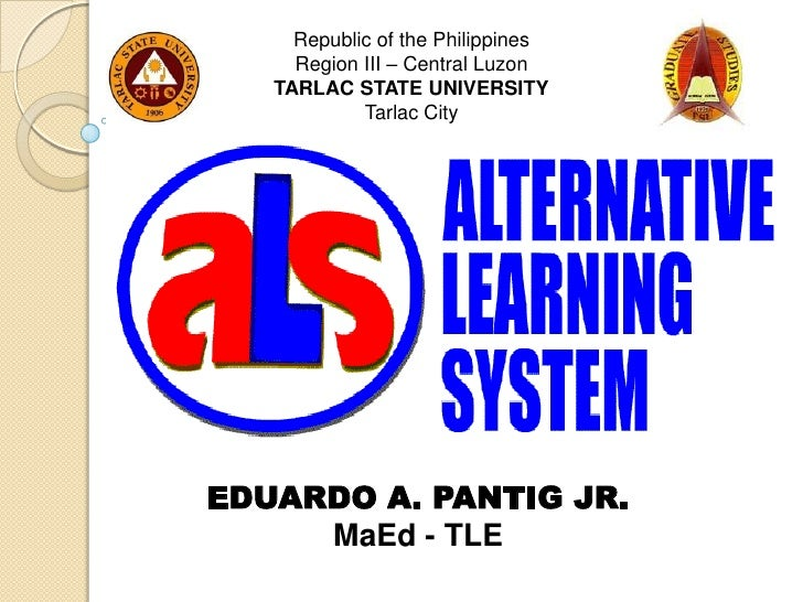 thesis about alternative learning system