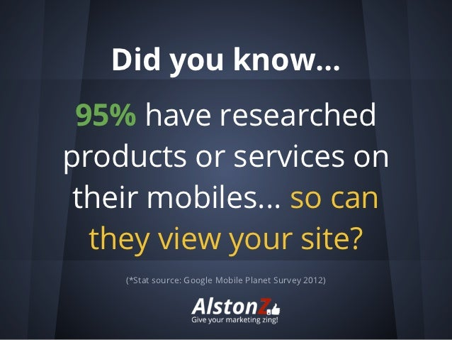 Alstonz marketing services mobile sites
