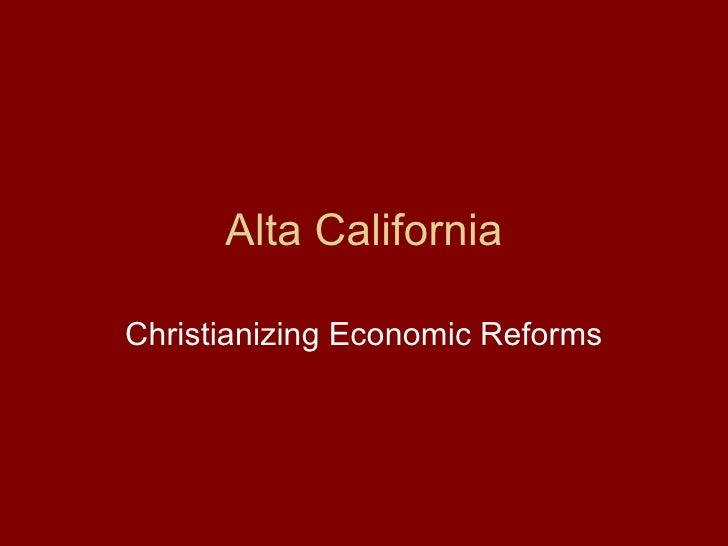 Alta California New And Historiography