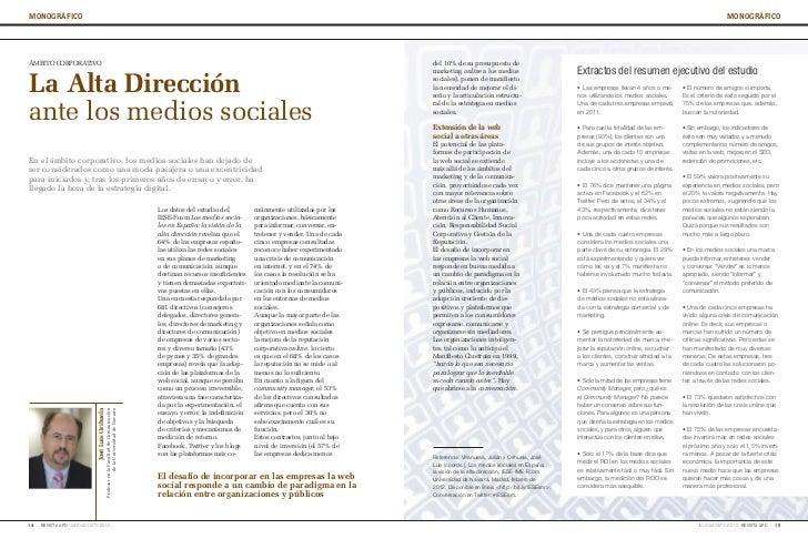 La alta dirección ante los medios sociales
