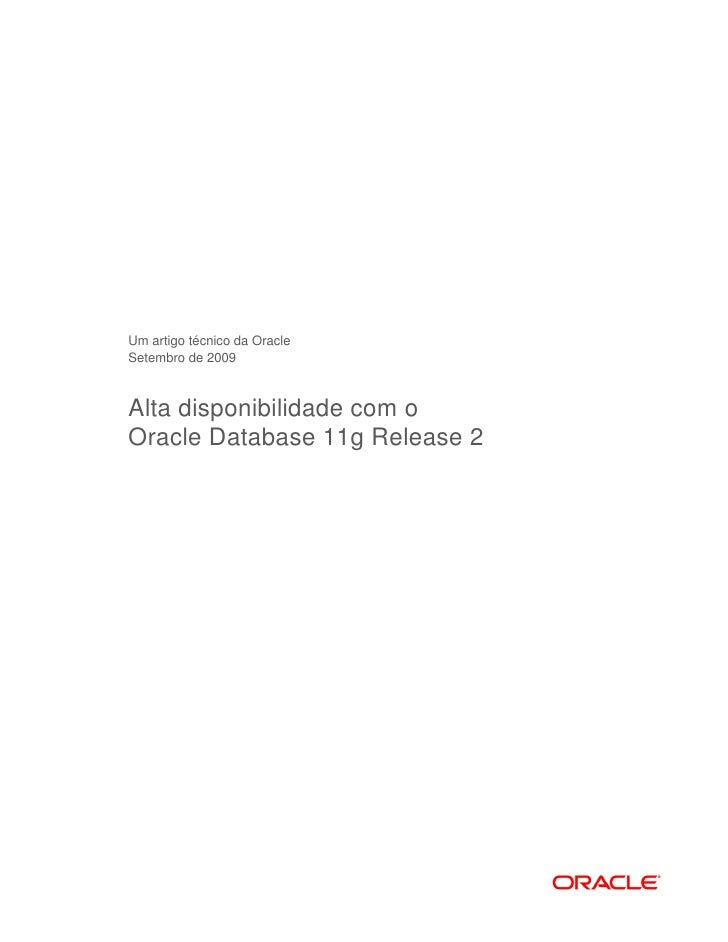 Alta disponibilidade com o oracle _11gpdf