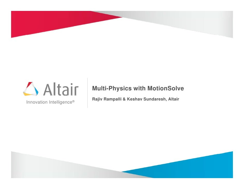Multi-physics with MotionSolve