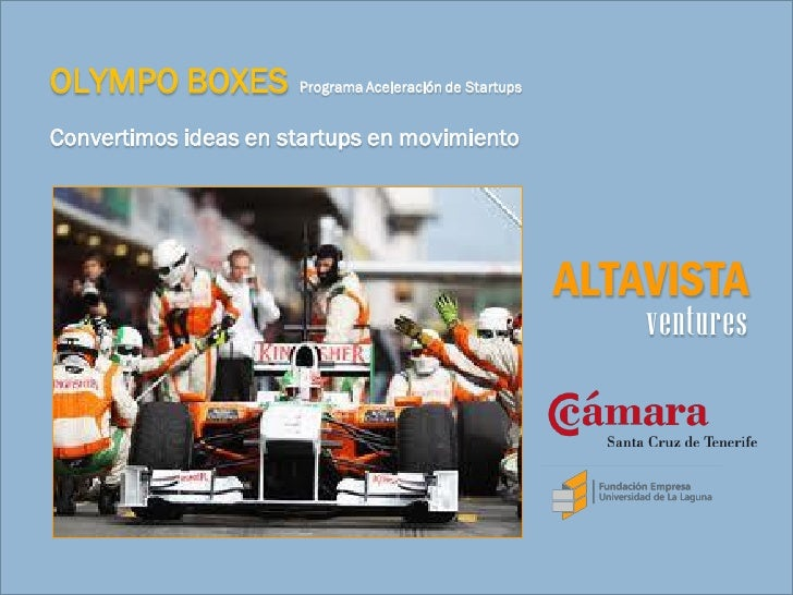 OLYMPO BOXES          Programa Aceleración de StartupsConvertimos ideas en startups en movimiento                         ...
