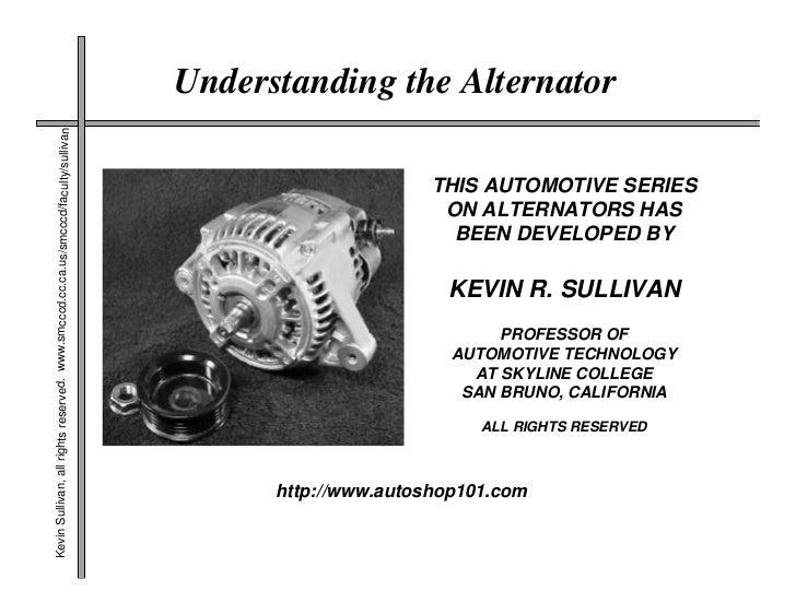 Understanding the Alternator Kevin Sullivan, all rights reserved. www.smcccd.cc.ca.us/smcccd/faculty/sullivan             ...