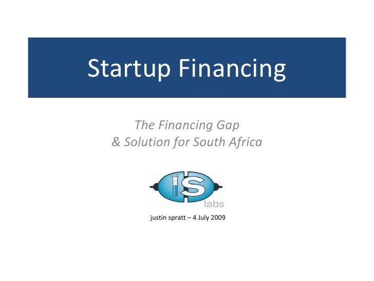Altconf  - Financing Startups