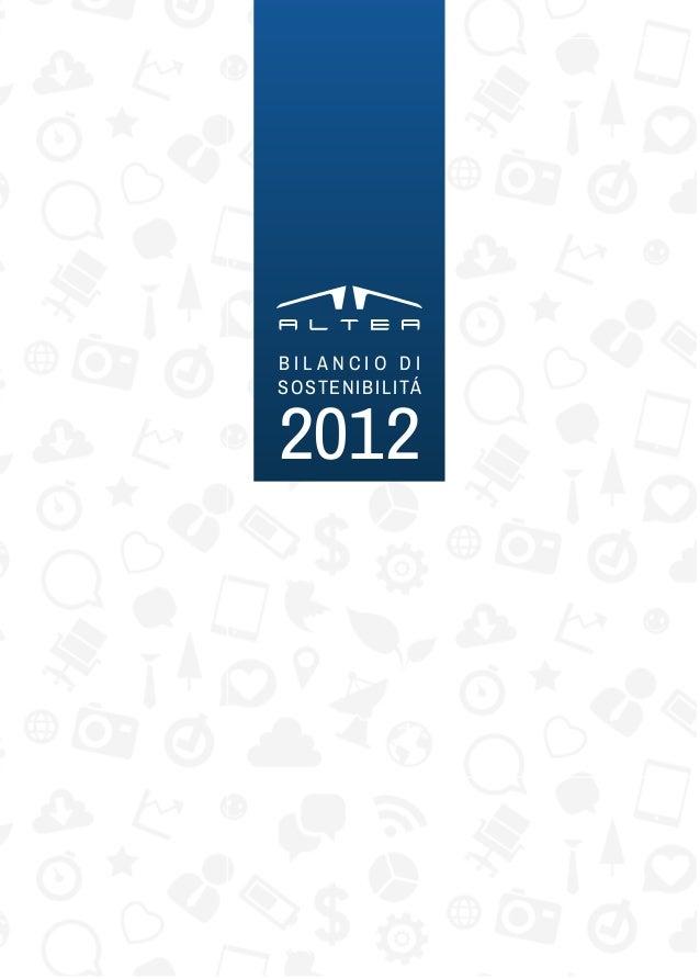 ALTEA Bilancio Sociale2012
