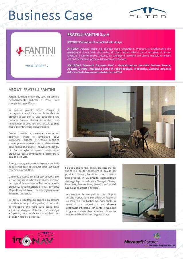 Business Case                                                     FRATELLI FANTINI S.p.A                                  ...