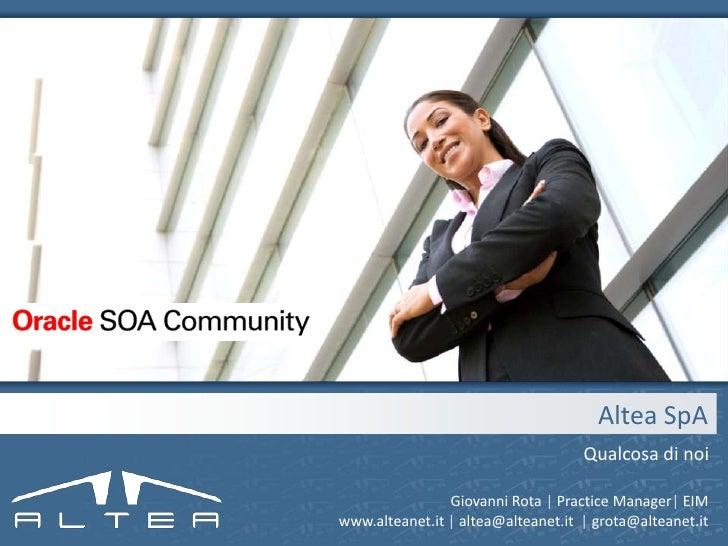 Altea per SOA Council