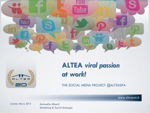 Social Media Project @AlteaSpA