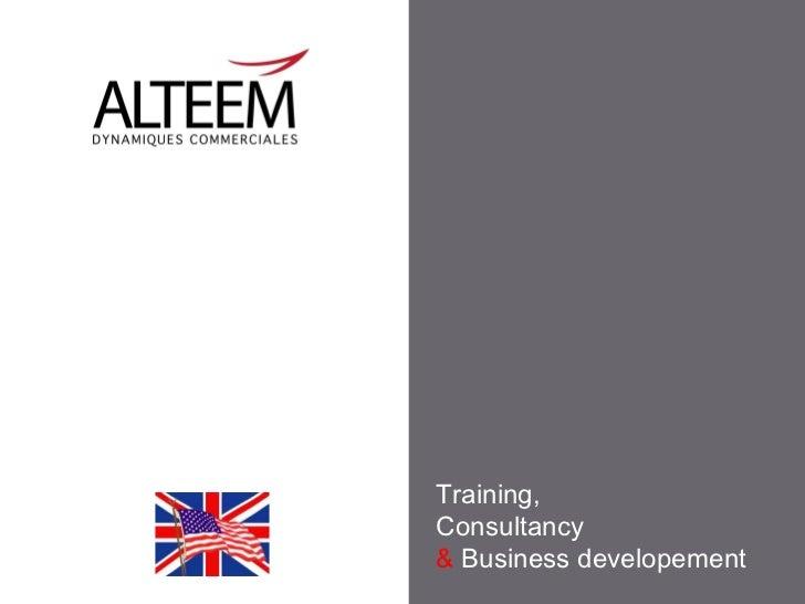Training,Consultancy& Business developement