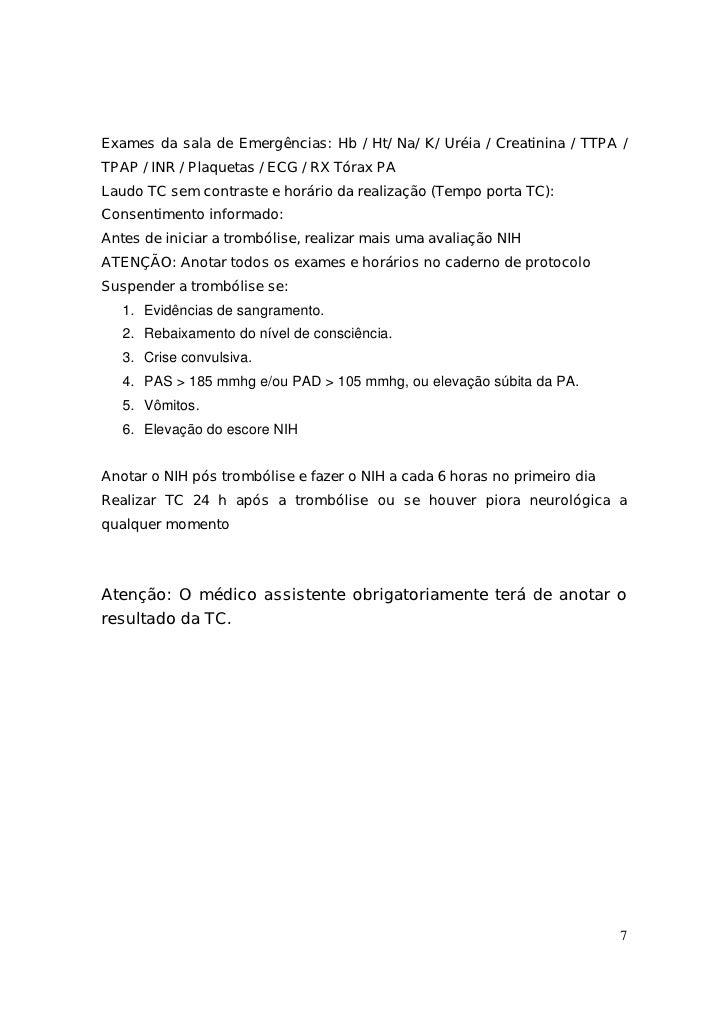Avc exames