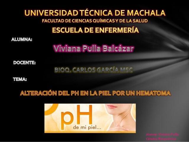 Alumna: Viviana Pulla Cátedra: Bioquímica