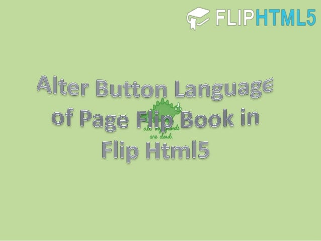 Alter button language of page flip book in flip html5