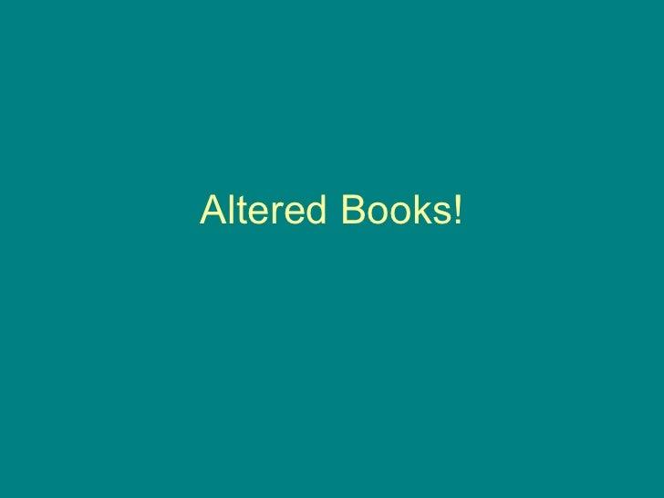 Alteredbooks