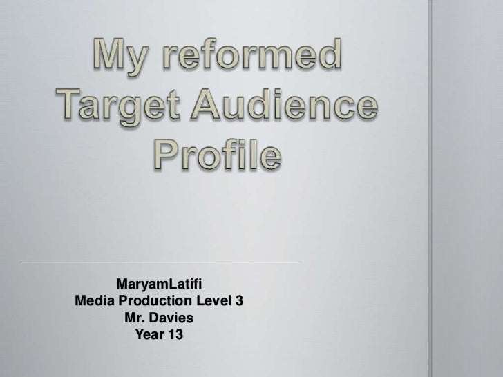 Altered target audience profile for my documentary 2