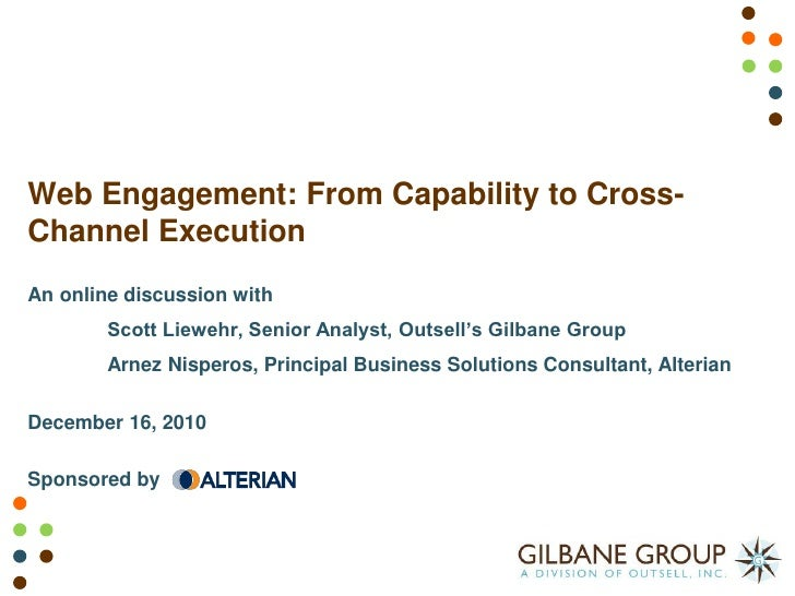 Web Engagement: From Capability to Cross-Channel Execution