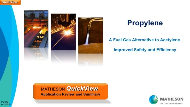 Propylene QuickView by MATHESON